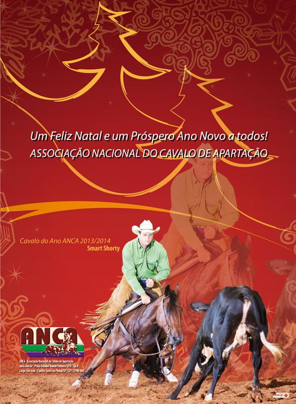 Feliz Natal e um Pr�spero Ano Novo para todos os associados da ANCA - Associa��o Nacional do Cavalo de Aparta��o