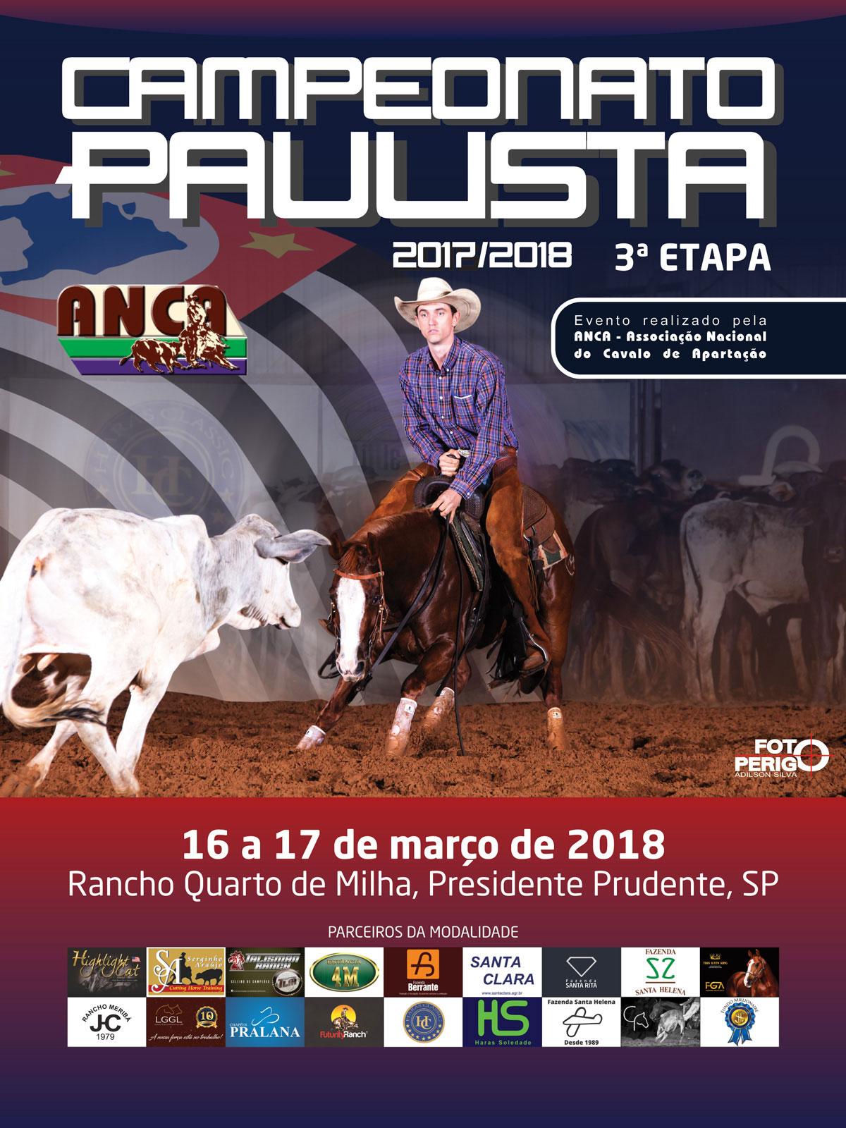 Campeonato Paulista ANCA 2017/2018 - 3ª Etapa