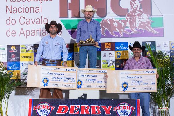 Campeões Fundo Millionaire do Derby ANCA 2019 Non Pro