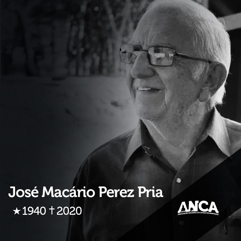 José Macário Perez Pria 1940 a 2020
