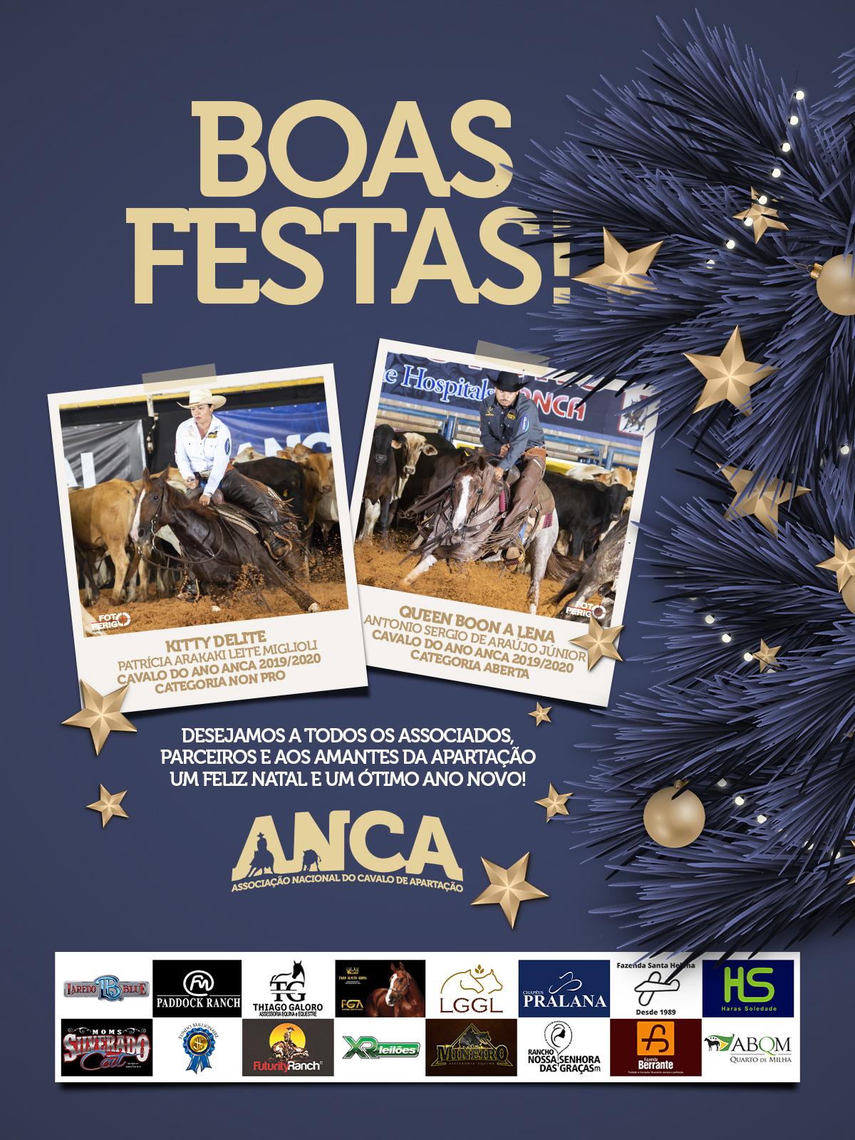 Um feliz Natal e um próspero ano novo a todos os sócios da ANCA